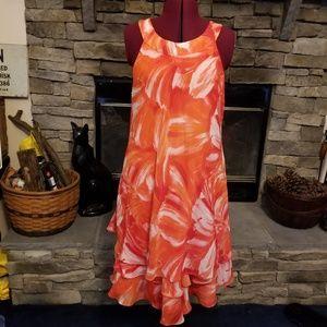 Studio One Peach Tiered Sun Dress 18